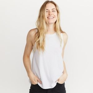 Marine Layer Tulip Back Tank in White